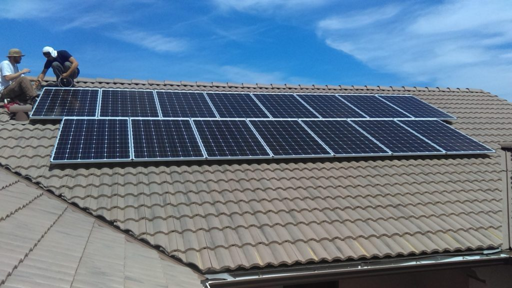 Auberry solar installation