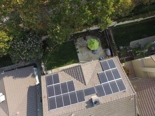 China Lake Acres solar panel system