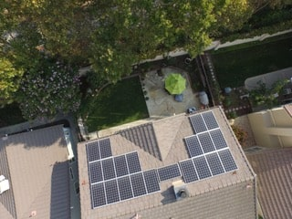 Rosamond solar panel system