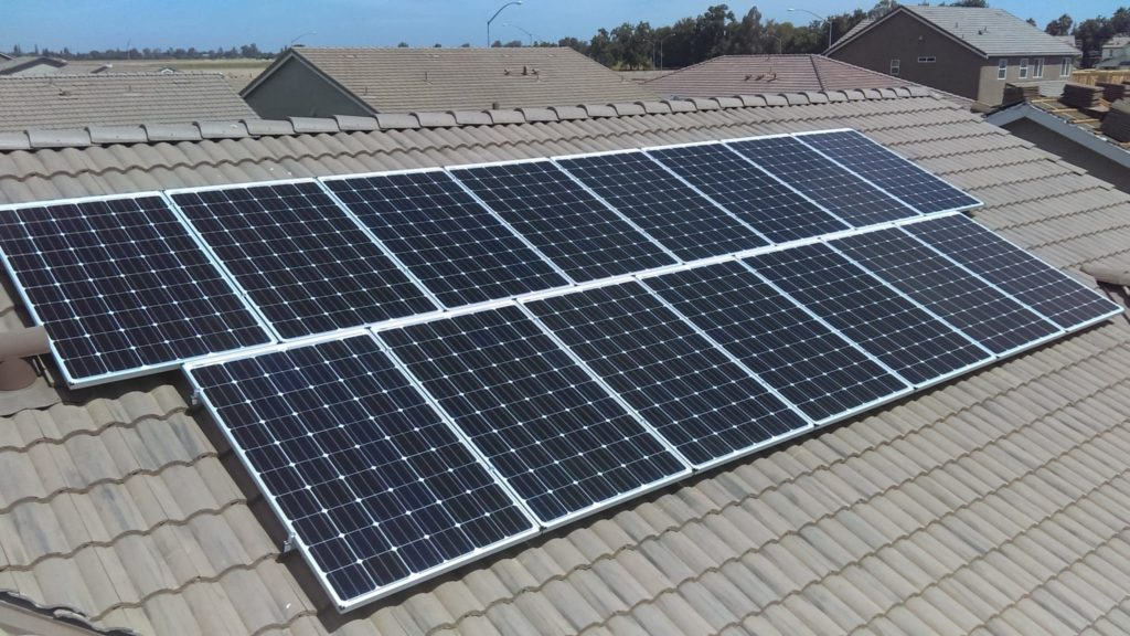 Solar panels for project Los Banos